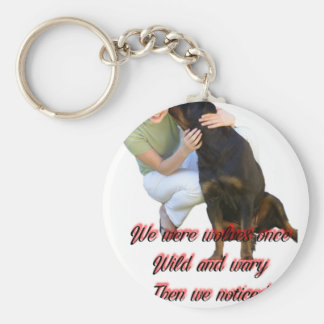 We were wolves once keychain