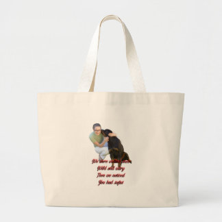 We were wolves once large tote bag