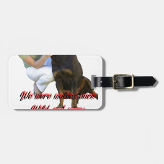 We were wolves once luggage tag