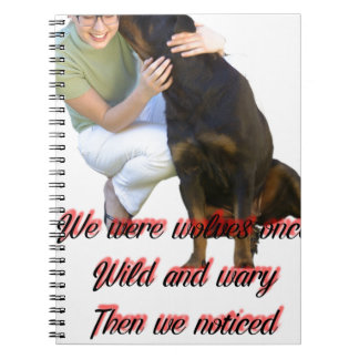 We were wolves once notebook