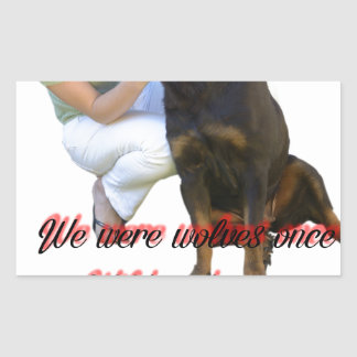 We were wolves once sticker