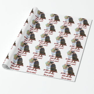 We were wolves once wrapping paper