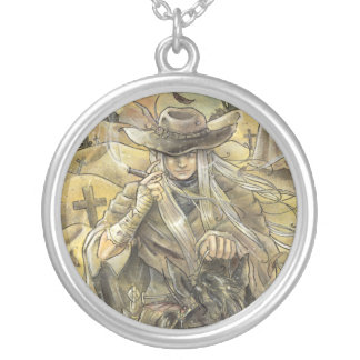 We Will Meet Again Cowboy  Round Necklace