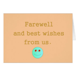 We Will Miss You> Farewell Card