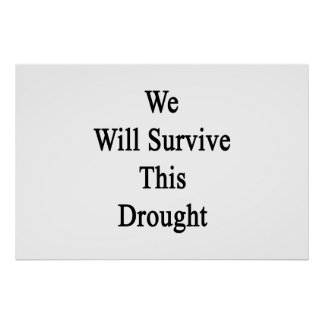 We Will Survive This Drought Poster