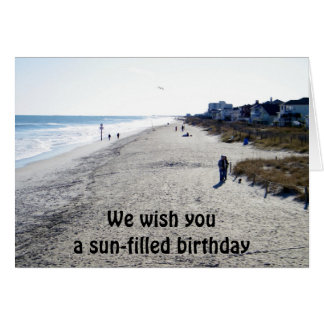 WE WISH U A SUNFILLED BIRTHDAY CARD