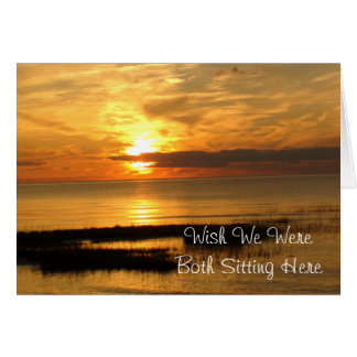 We Wish Were Together, Beachy Card at Sunset