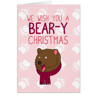 We Wish You A Bear-y Christmas Card