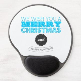 We wish you à Merry Carte de voeux and à Happy New Tapis De Souris Avec Gel