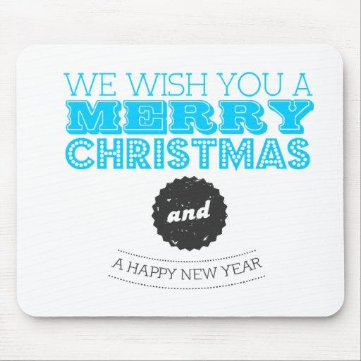 We wish you à Merry Carte de voeux et Happy New Ye Tapis De Souris