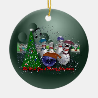We Wish You a Merry Christmas Ceramic Ornament