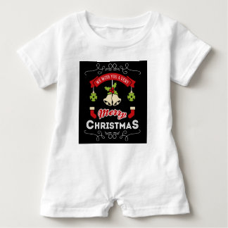 We wish you a Merry Christmas Greeting Baby Romper
