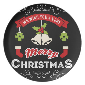 We wish you a Merry Christmas Greeting Plate