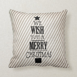 We Wish You a Merry Christmas Holiday Pillow