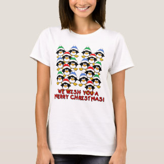 WE WISH YOU A MERRY CHRISTMAS PENGUINS T-Shirt