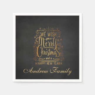 We Wish You A Merry Christmas personalized Napkin Paper Napkin