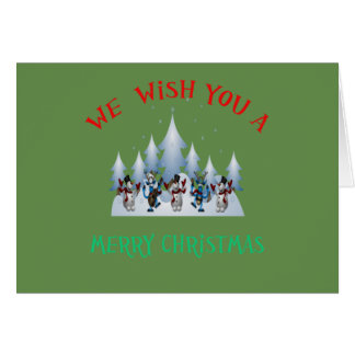 We wish you a Merry Christmas snowman band Card