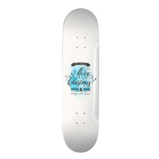 We wish you to Merry Christmas & Happy New Year Custom Skate Board