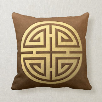 Wealth, Prosperity, Luck and Peace Throw Pillow