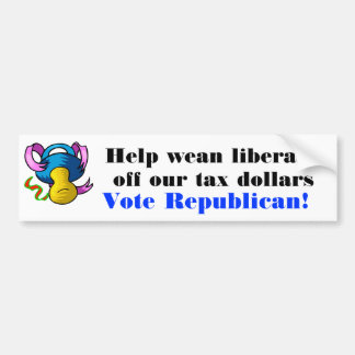 Wean Liberals off our tax dollars Sticker