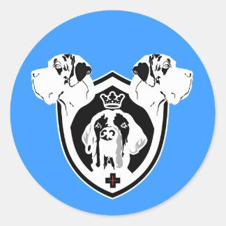 Weapon 3 Danes Round Sticker