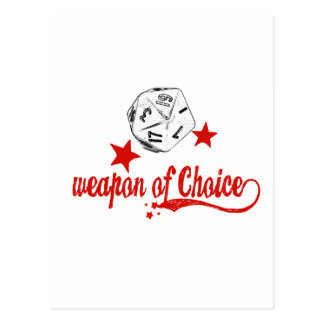 weapon of choice postcard