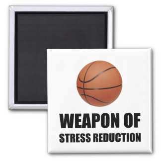 Weapon of Stress Reduction Basketball Square Magnet