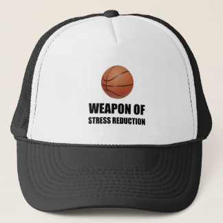 Weapon of Stress Reduction Basketball Trucker Hat