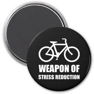 Weapon of Stress Reduction Biking 3 Inch Round Magnet