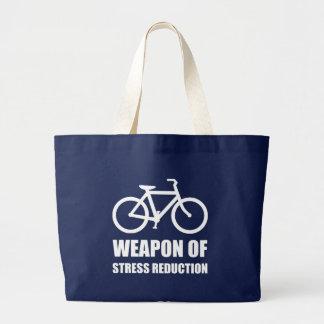 Weapon of Stress Reduction Biking Large Tote Bag