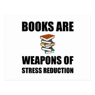 Weapon of Stress Reduction Books Postcard