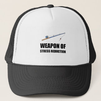 Weapon of Stress Reduction Fishing Trucker Hat