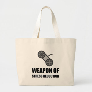 Weapon of Stress Reduction Gaming Large Tote Bag