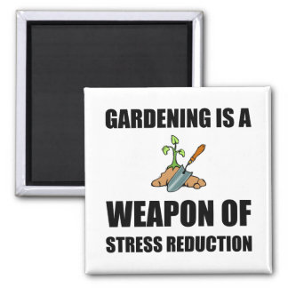 Weapon of Stress Reduction Gardening Square Magnet