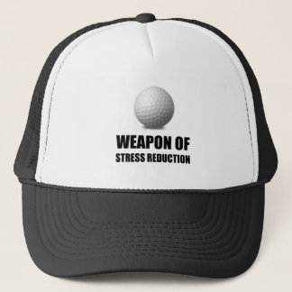 Weapon of Stress Reduction Golf Trucker Hat