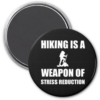 Weapon of Stress Reduction Hiking 3 Inch Round Magnet