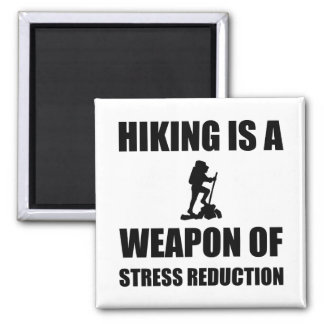 Weapon of Stress Reduction Hiking Square Magnet