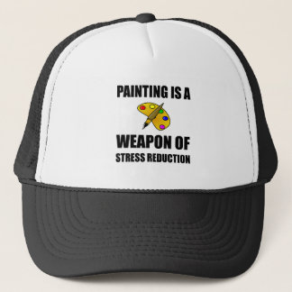 Weapon of Stress Reduction Painting Trucker Hat