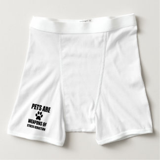 Weapon of Stress Reduction Pets Boxer Briefs