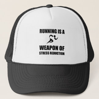 Weapon of Stress Reduction Running Trucker Hat