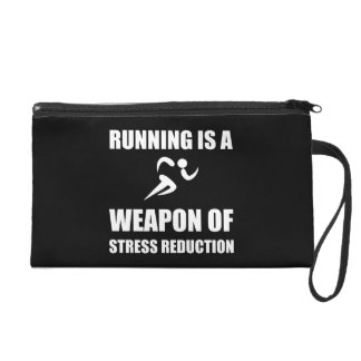 Weapon of Stress Reduction Running Wristlet Clutches