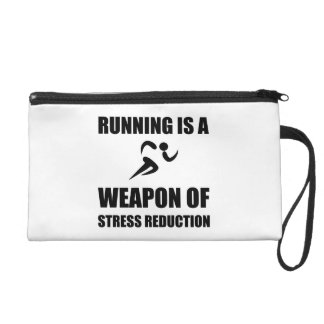 Weapon of Stress Reduction Running Wristlet Purses