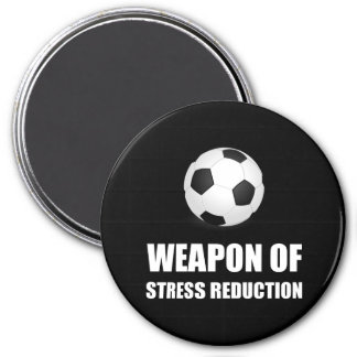 Weapon of Stress Reduction Soccer 3 Inch Round Magnet