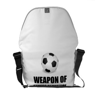 Weapon of Stress Reduction Soccer Commuter Bags