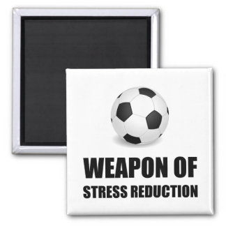 Weapon of Stress Reduction Soccer Square Magnet