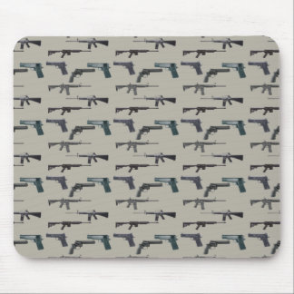 Weapons Collage Mouse Pad