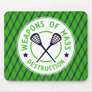 Weapons of Destruction Lacrosse Mousemat Mouse Pad