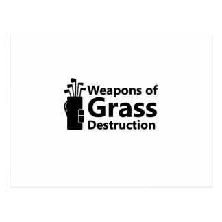 Weapons of Grass Destruction Funny Golfing Gift Postcard