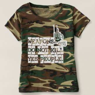 Weapons of not kill, yes people t-shirt