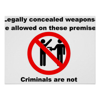 Weapons Permitted Poster